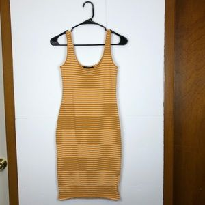 Forever 21 mustard yellow striped dress Sz M